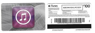 FOR COLLECTION ONLY – 1 x USED A$100 Australia APPLE iTunes gift card, NO VALUE