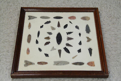 20x20 Frame of 41 Arrowheads: Olympic Penin / Columbia River/ WA /OR Gempoints