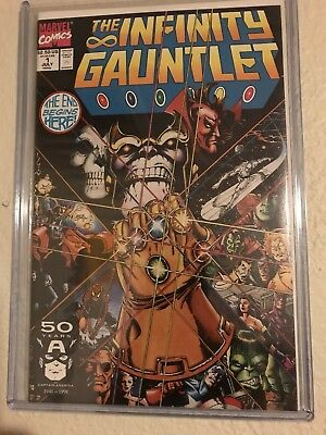Infinity Gauntlet 1-6 Complete series (Marvel comic 1991) Thanos Avengers Movie