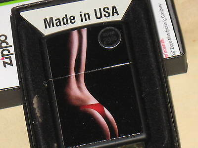 New USA Zippo Windproof Lighter Nice No Ifs ands or Butts about it Red Hot Lady