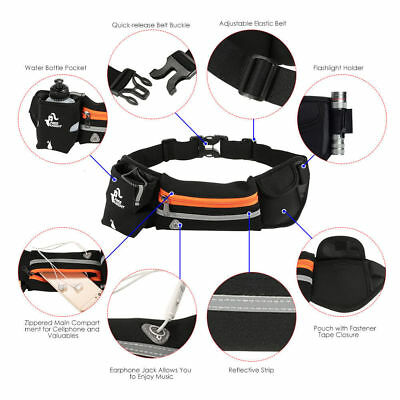 Sport Water Bottle Holder Belt Bag for Running Jogging Cycling Waist Pack Pouch