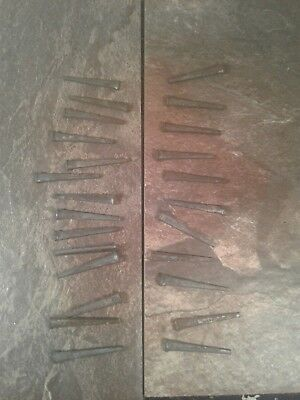"25 Antique Vintage Masonry Square Cut Raisin Head Nails 1.5"" - Furniture Restore"