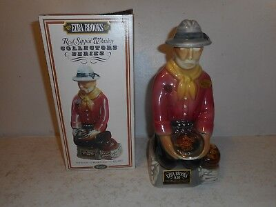 Ezra Brooks - 1969 The Gold Prospector Decanter with Box