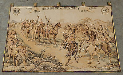 Large Stunning French Antique independencia ou morte Tapestry 200X123cm (A346)