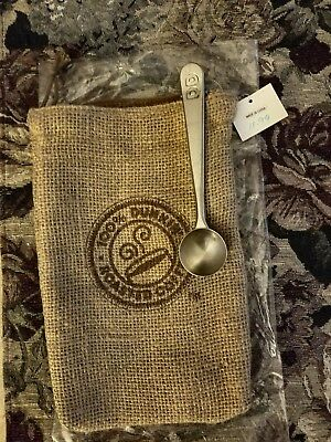 DUNKIN DONUTS GIFT BAG with 2 TABLESPOON COFFEE SCOOP, GENUINE, NEW