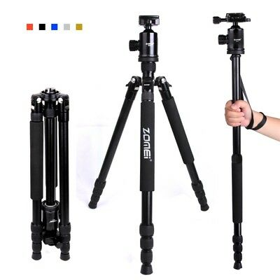 Professional Aluminum Camera Tripod Monopod Ball Head for DSLR Camera travel