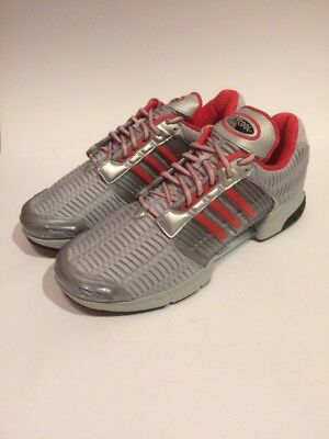 best service eb0bc 99cbe New Adidas Mens Clima Cool 1 Running Shoe, Size 13, Silver And Red