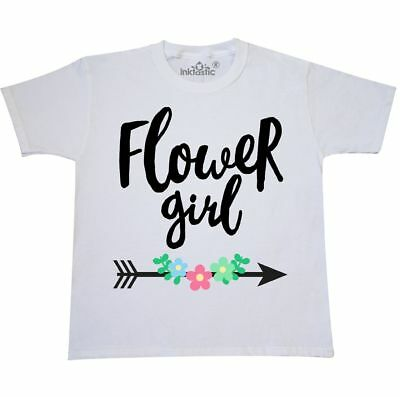 Inktastic Flower Girl With Arrow And Flowers Youth T-Shirt Wedding Spring Petal