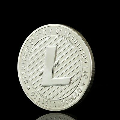 Litecoin Coins Vires in Numeris Commemorative Coin Collection Silver Plated SS