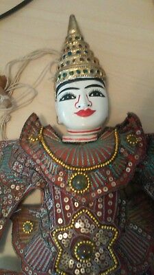 Large Thai Hand-Crafted Marionette Puppet - 18 Inches