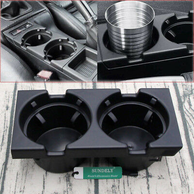 Front Center Console Cup/drinks Holder Black For Bmw 3 Series E46 51168217953