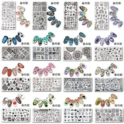 Nail Art Stamping Plates Rectangle Stamp Image Plate Template Manicure Tools 春の歌