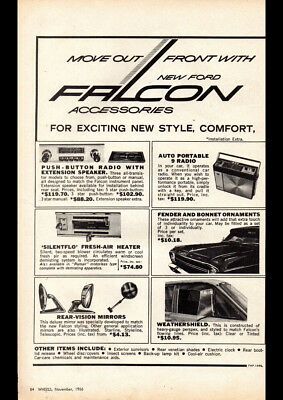 """1967 XR FORD FALCON ACCESSORIES AD A3 CANVAS PRINT POSTER 16.5""""x11.7"""""""