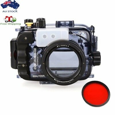 AU Seafrogs 60m/195ft Underwater Camera Housing Case for Sony A6000 A6300 A6500