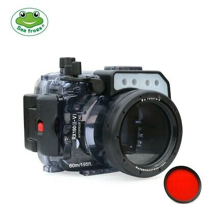 Seafrogs 60m/195ft Underwater Camera Housing for Sony DSC-RX100(I-V) M2 M3 M4 M5