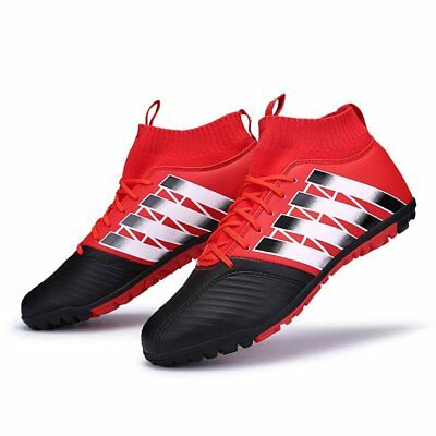 Men Kids Boys Soccer Indoor Cleats Athletic Shoes Turf Soccer Football Boots New