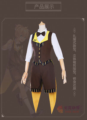 Vocaloid Family Mart Rin Cosplay Costume E001 Costumes & Accessories