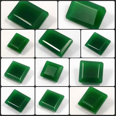 Natural Faceted Green Jade Rectangle / Square Shape Gemstone ARM 8153-8182