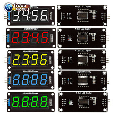 "0.56"" inch TM1637 4-Bits LED Clock Tube Display Red/Blue/Green/White for Arduino"