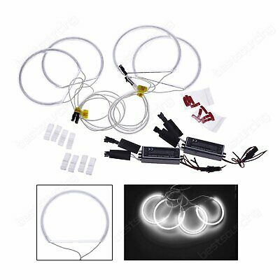 Kit 131mm CCFL Angel Eyes Xenon Blanc 7000K Feux Phare Pour BMW E36 E46 E38 E39