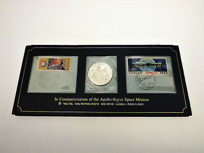 MEDAILLE - APOLLO SOYUZ Space Mission - Numisbrief - 1975 - Silber
