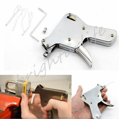 Strong Lock Pick Gun Padlock Repair Tools Kit Door Opener Bump Key Locksmith UK