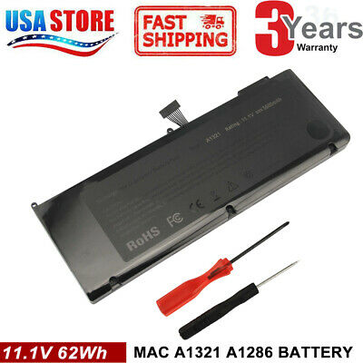 "A1321 Battery for Apple Macbook Pro 15"" A1286 ( Mid 2009 2010) MC372LL/A"