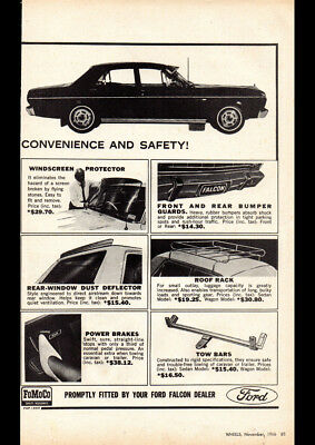 """1967 XR FORD FALCON ACCESSORIES AD A4 CANVAS PRINT POSTER 11.7""""x8.3"""""""