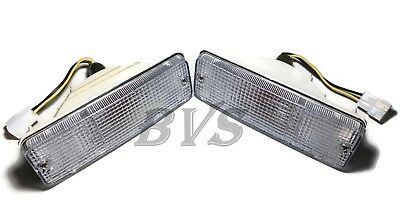 Front Clear Bumper Light Turn Signal Lamp For Toyota Hilux Pickup Ln50 Mk2 84-88