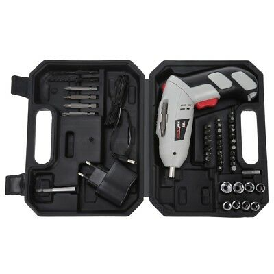Rechargeable Battery Screwdriver Electric Drill Set Tools 180° 240V Ni-Cd