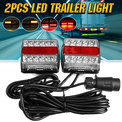 2x Magnetic LED Trailer Truck Towing Lightboard Tail Light  Lamp Board 10m Cable