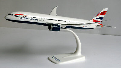 British Airways Boeing 787-9 1:200 Herpa Snap-Fit 611572 Dreamliner Modell B787