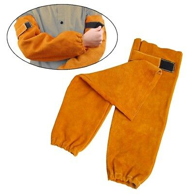 Welding Sleeves Flame Heat Resistant Arm Protector Chef Welder Metalworking Wear