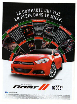2014 DODGE Dart Limited Original Print AD - Red car photo french canada