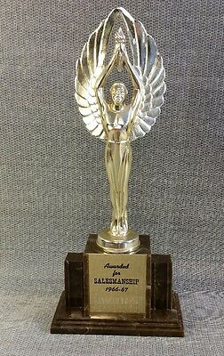 Vintage Victory Winged Trophy Topper 1966-67 Award for Salesmanship