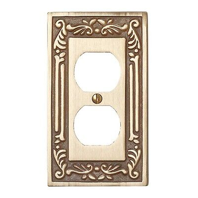 Victorian Switch Plate Single Outlet Antique Solid Brass | Renovator's Supply