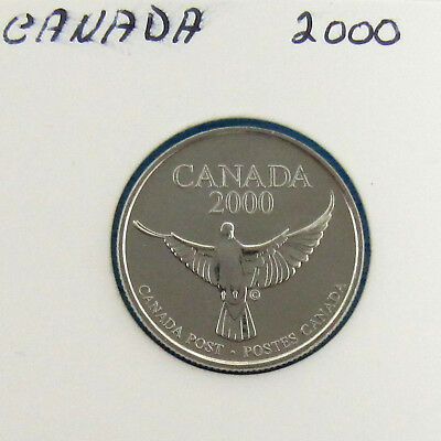 2000  Canada Post The Arrival Of New Millenium Official  Dove Token
