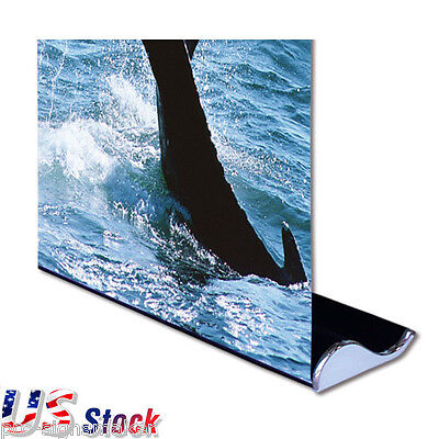 """2pcs 33"""" W x 79"""" H Whale Shape Good Quality Roll Up Banner Stand - USA Stock"""
