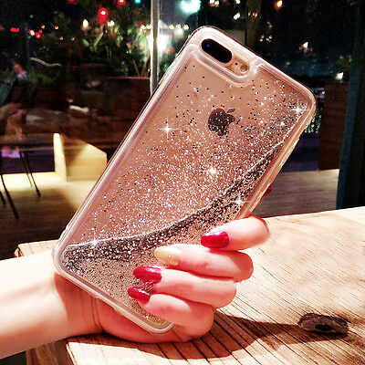 Dynamic Liquid Glitter Quicksand Clear Hard Back Phone Case For iPhone XS Max 8