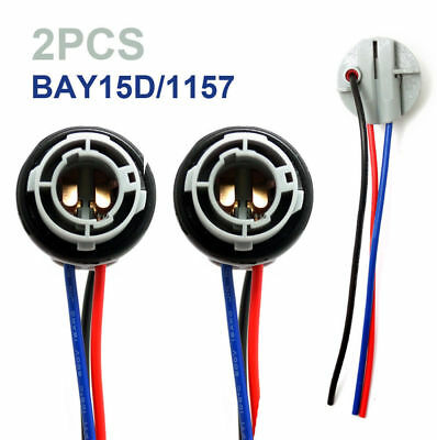 2pcs 1157 2357 Replacement Plug Sockets Extened Wiring Harness Tail Brake Lights