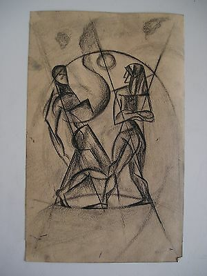 Due figure cubiste avanguardia russa russian avantgarde