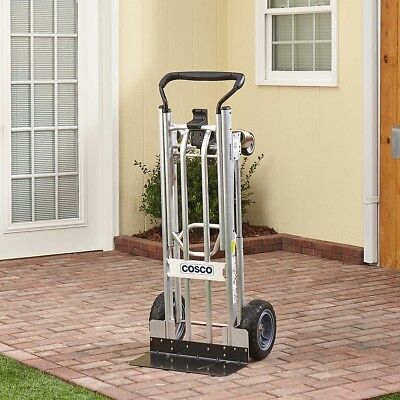 Heavy Lifting Cosco 3-in-1 Hand Truck/Assisted Hand Truck/Cart Flat-Free Wheels