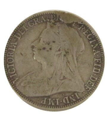 1901 Great Britain One Florin Queen Victoria British Silver Two Shillings