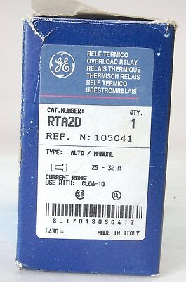 New General Electric Overload Relay RTA2D 25-32A