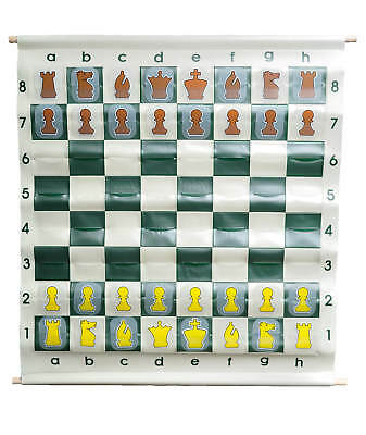 """36"""" Pouch-Style Chess Demonstration (Teaching) Board Set with Clear Plastic Piec"""