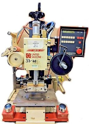 "UNITED SILICONE US 5 HOT STAMPING MACHINE 4"" x 6"" HEAD  220 Volt Single Phase"