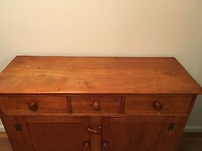 PRICE REDUCED! Circa 1950 Antique Buffet one owner original patina solid as time
