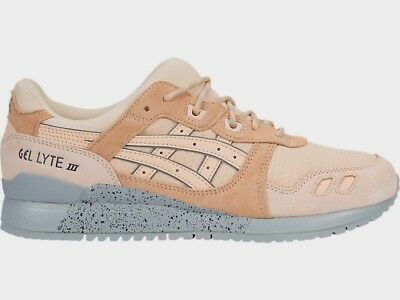 Asics Men's GEL-LYTE III Shoes NEW AUTHENTIC Bleached Apricot/Grey H7L4L-1717
