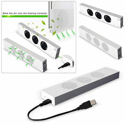 For Xbox one S (slim) Console High Speed 3 Fans Cooler Cooling Fan Dual USB Port