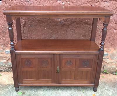Sideboard /Handsome Arts and Crafts Solid Walnut Buffet / Serving Table